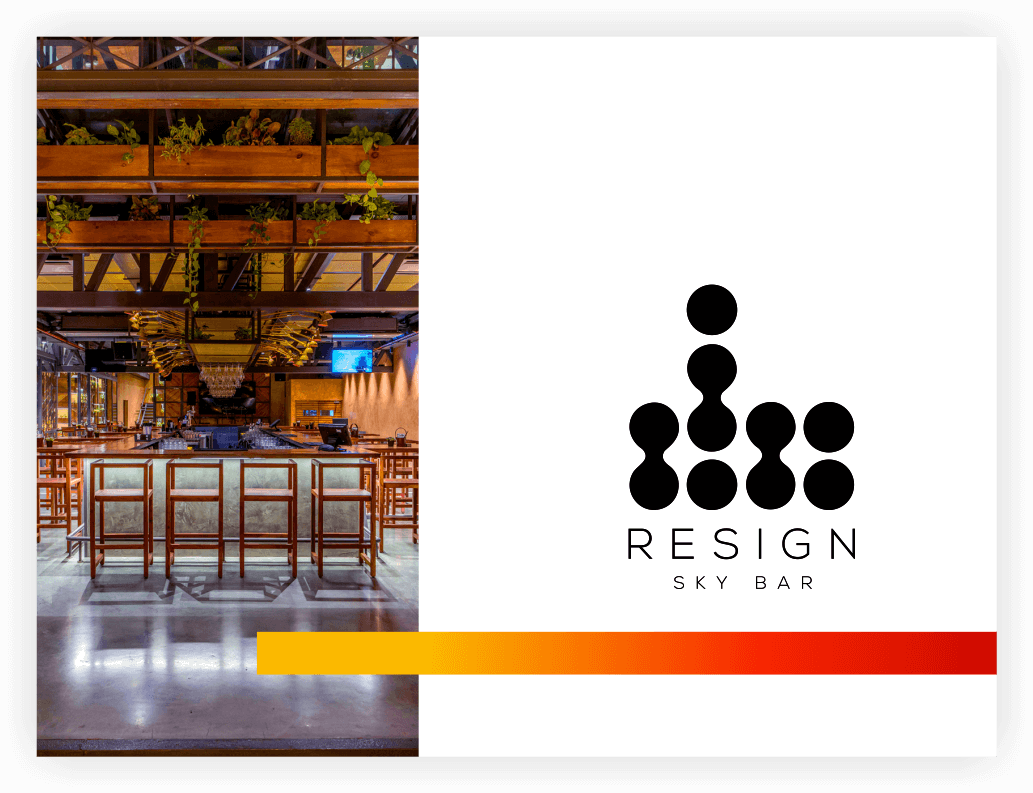 Resign is a Sky Bar located in the Corporate Heart of Hyderabad - Hitec City. Its rugged yet minimalistic interior is highlighted with the perfect concoction of metal and wood. A place that lets you be… you; leaving all the hassles behind. Resign gives you an expansive view of the emerging skyline from their Roof Top while you savour your favourite hand-crafted spirits & finger food.