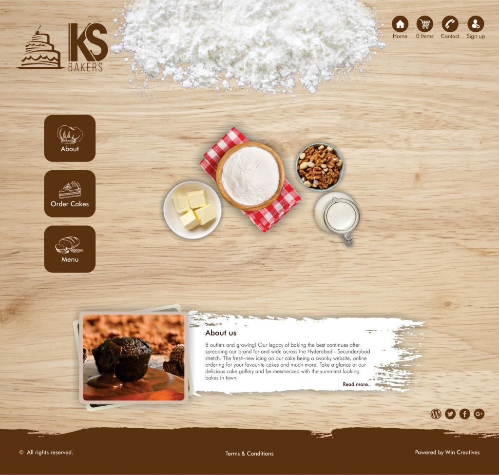 Creative Website Layout, KS Bakers, What's In a Name Creatives